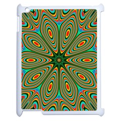 Vibrant Seamless Pattern  Colorful Apple Ipad 2 Case (white) by Simbadda