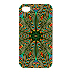 Vibrant Seamless Pattern  Colorful Apple Iphone 4/4s Premium Hardshell Case by Simbadda