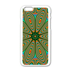 Vibrant Seamless Pattern  Colorful Apple Iphone 6/6s White Enamel Case by Simbadda