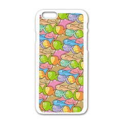 Fishes Cartoon Apple Iphone 6/6s White Enamel Case by sifis