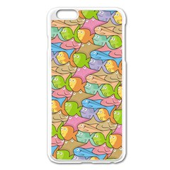 Fishes Cartoon Apple Iphone 6 Plus/6s Plus Enamel White Case by sifis