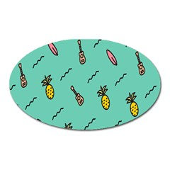 Guitar Pineapple Oval Magnet by Alisyart