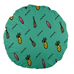 Guitar Pineapple Large 18  Premium Round Cushions by Alisyart