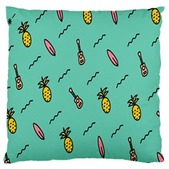 Guitar Pineapple Standard Flano Cushion Case (one Side)