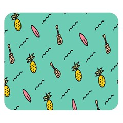 Guitar Pineapple Double Sided Flano Blanket (small)  by Alisyart