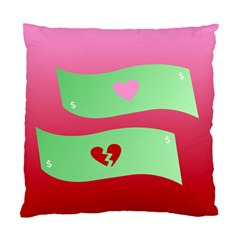 Money Green Pink Red Broken Heart Dollar Sign Standard Cushion Case (one Side) by Alisyart