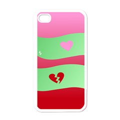 Money Green Pink Red Broken Heart Dollar Sign Apple Iphone 4 Case (white)