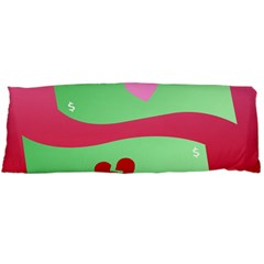 Money Green Pink Red Broken Heart Dollar Sign Body Pillow Case Dakimakura (two Sides)