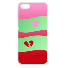 Money Green Pink Red Broken Heart Dollar Sign Apple Iphone 5 Seamless Case (white)