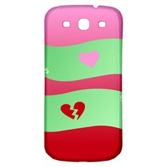 Money Green Pink Red Broken Heart Dollar Sign Samsung Galaxy S3 S Iii Classic Hardshell Back Case