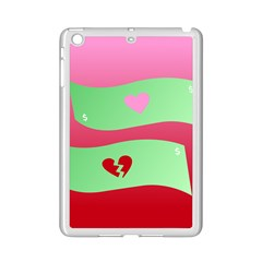 Money Green Pink Red Broken Heart Dollar Sign Ipad Mini 2 Enamel Coated Cases
