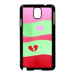 Money Green Pink Red Broken Heart Dollar Sign Samsung Galaxy Note 3 Neo Hardshell Case (black)