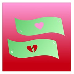 Money Green Pink Red Broken Heart Dollar Sign Large Satin Scarf (square) by Alisyart