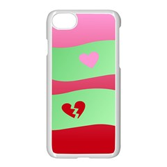 Money Green Pink Red Broken Heart Dollar Sign Apple Iphone 7 Seamless Case (white) by Alisyart