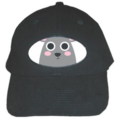 Mouse Grey Face Black Cap