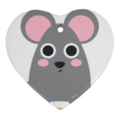 Mouse Grey Face Ornament (heart) by Alisyart