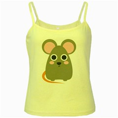 Mouse Grey Face Yellow Spaghetti Tank