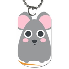 Mouse Grey Face Dog Tag (two Sides) by Alisyart