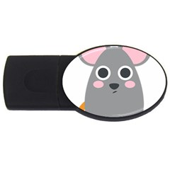 Mouse Grey Face Usb Flash Drive Oval (2 Gb) by Alisyart