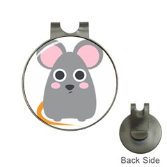 Mouse Grey Face Hat Clips With Golf Markers
