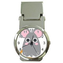 Mouse Grey Face Money Clip Watches