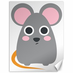 Mouse Grey Face Canvas 12  X 16   by Alisyart