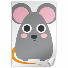 Mouse Grey Face Canvas 12  X 18   by Alisyart