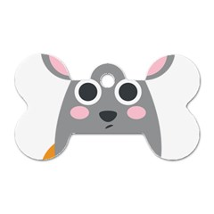 Mouse Grey Face Dog Tag Bone (one Side) by Alisyart