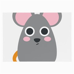 Mouse Grey Face Large Glasses Cloth