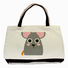 Mouse Grey Face Basic Tote Bag (two Sides) by Alisyart