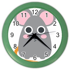 Mouse Grey Face Color Wall Clocks by Alisyart
