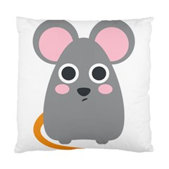 Mouse Grey Face Standard Cushion Case (two Sides)