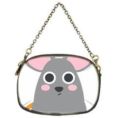 Mouse Grey Face Chain Purses (two Sides)  by Alisyart
