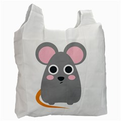 Mouse Grey Face Recycle Bag (two Side)  by Alisyart