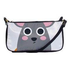 Mouse Grey Face Shoulder Clutch Bags by Alisyart
