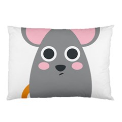 Mouse Grey Face Pillow Case (two Sides)