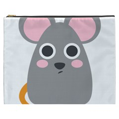 Mouse Grey Face Cosmetic Bag (xxxl)  by Alisyart