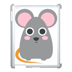 Mouse Grey Face Apple Ipad 3/4 Case (white)