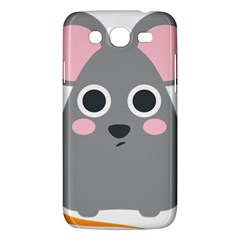 Mouse Grey Face Samsung Galaxy Mega 5 8 I9152 Hardshell Case  by Alisyart