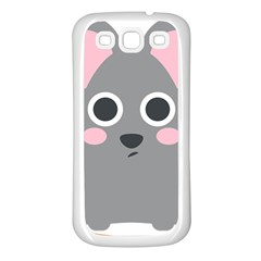 Mouse Grey Face Samsung Galaxy S3 Back Case (white)