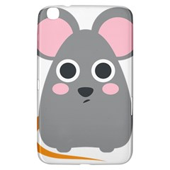 Mouse Grey Face Samsung Galaxy Tab 3 (8 ) T3100 Hardshell Case  by Alisyart