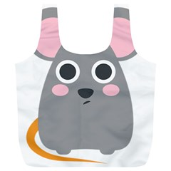 Mouse Grey Face Full Print Recycle Bags (l)  by Alisyart