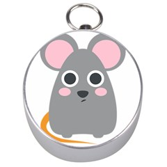 Mouse Grey Face Silver Compasses