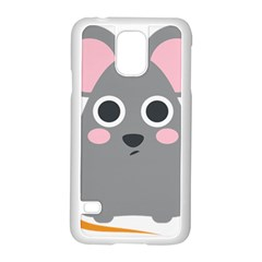 Mouse Grey Face Samsung Galaxy S5 Case (white)