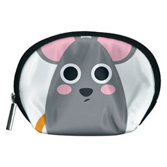 Mouse Grey Face Accessory Pouches (medium)  by Alisyart