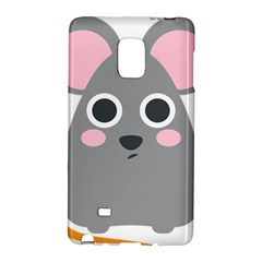 Mouse Grey Face Galaxy Note Edge by Alisyart