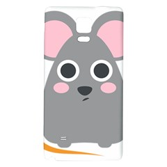 Mouse Grey Face Galaxy Note 4 Back Case by Alisyart