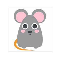 Mouse Grey Face Small Satin Scarf (square)