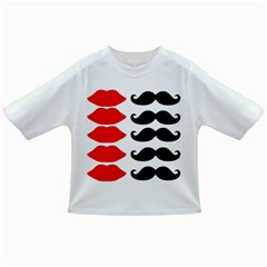 Mustache Black Red Lips Infant/toddler T Shirts by Alisyart