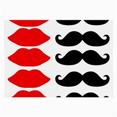 Mustache Black Red Lips Large Glasses Cloth